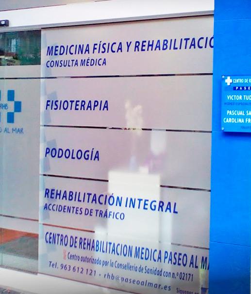 Centro privado de rehabilitación integral para accidentes de tráfico en Valencia